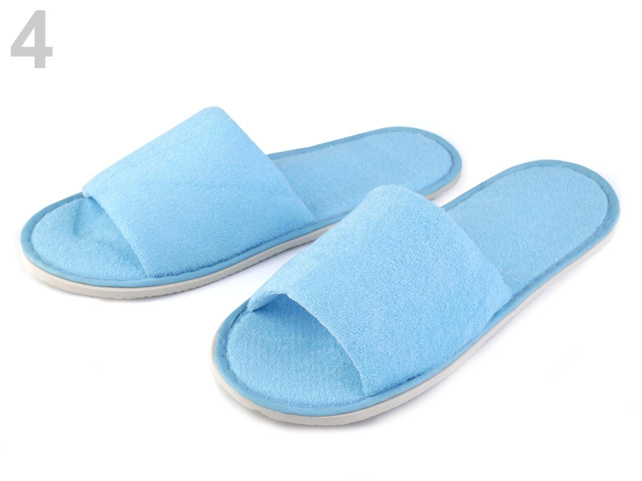 Pantofle textilní 1pár - 92 Kč / pár 4 modrá nebeská