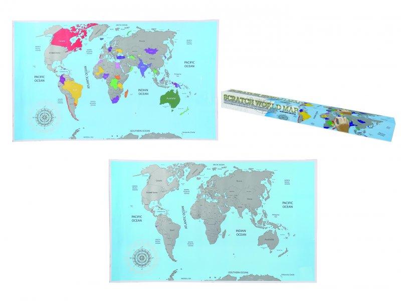Stírací mapa světa - basic Stírací mapa světa - basic