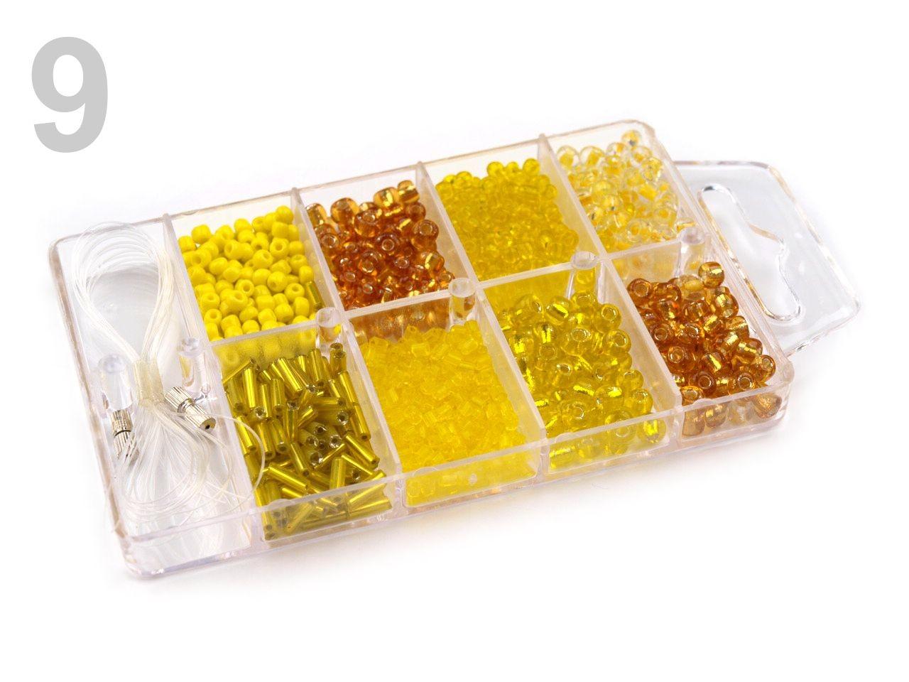 Korálky ROKAJL v plastovém boxu 210878 1krab, - 53 Kč / krab, 9 Aspen Gold