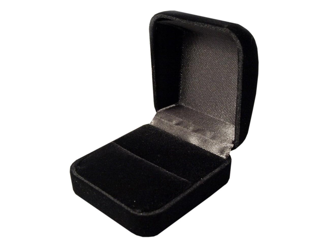 Krabička na šperky 30x 55x 60mm sametová EXCLUSIVE polstrovaná 1ks - 53 Kč / ks 1 černá