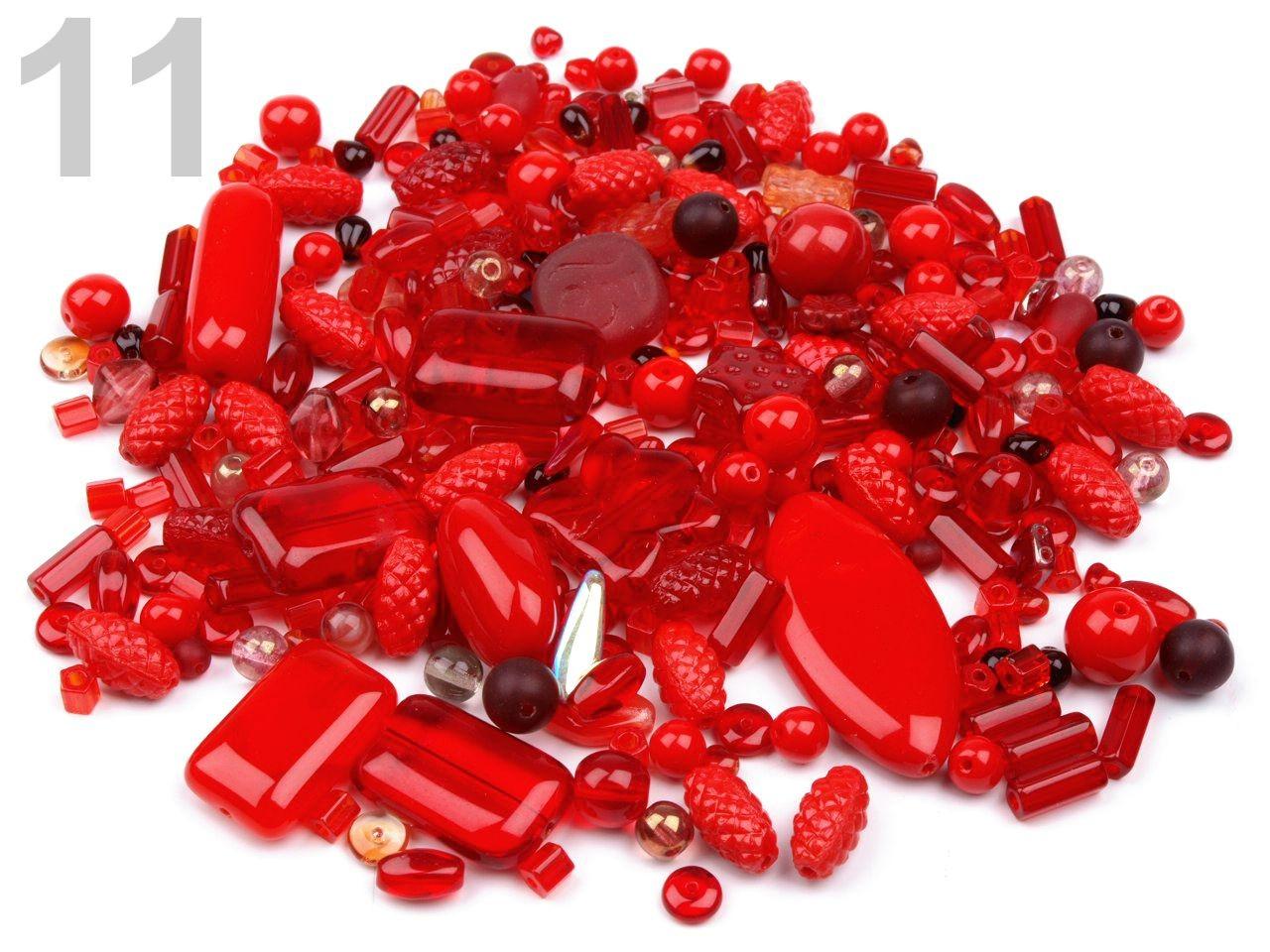 Korálky ramš 1000g I.jakost ČESKÝ VÝROBEK 150g - 2 Kč / g 11 červená jahoda