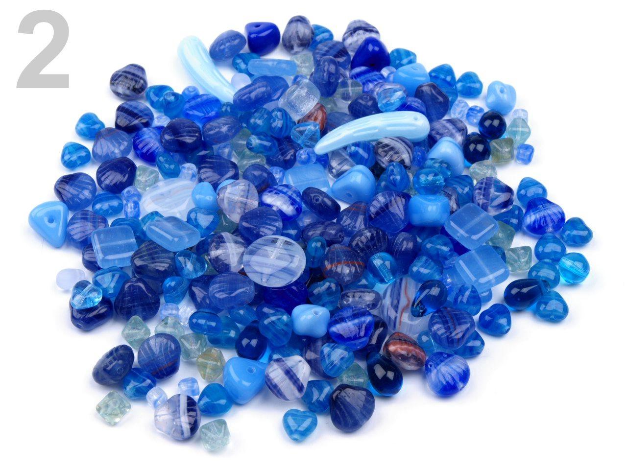 Korálky ramš 1000g I.jakost ČESKÝ VÝROBEK 150g - 2 Kč / g 2 modrá královská