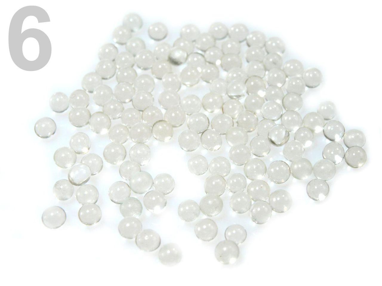 Vodní perly - gelové kuličky do vázy cca 4g CRYSTAL SOILS 1sáček - 24 Kč / sáček 6 transparent