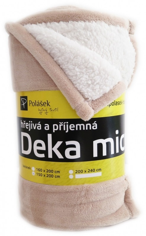 Polášek Deka beránek béžová č. 10 150 x 220 cm
