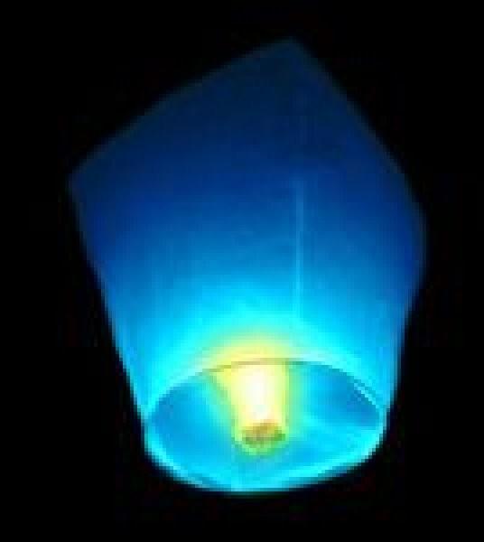 Lampiony přání - 10ti pack Lampiony přání - 10ti pack Modré lampiony