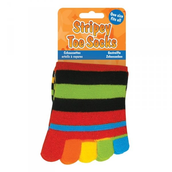 Pruhované prstové ponožky Pruhované prstové ponožky bez třpytivých nitek