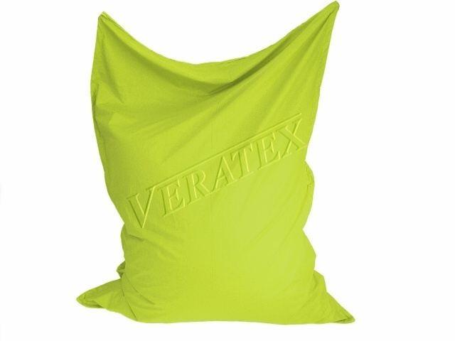 VERATEX Sedací vak/pytel Klasik 120 x 160 x 25cm (žlutozelený)