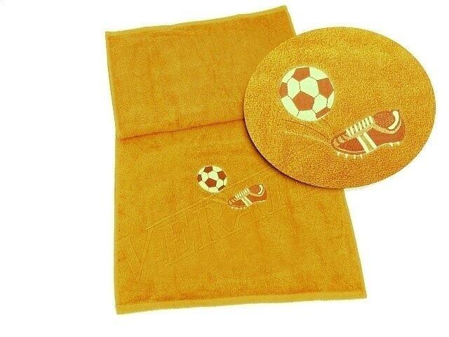 VERATEX Ručník fotbal 50x100 ( 5 sytě žlutá)