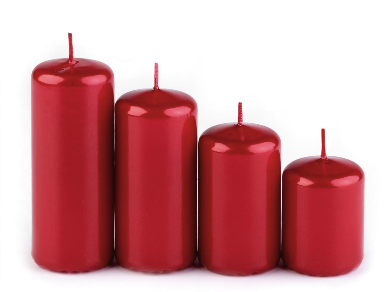 Adventní svíčky válec sestupné 12krab, - 101 Kč / krab, mix náhodný