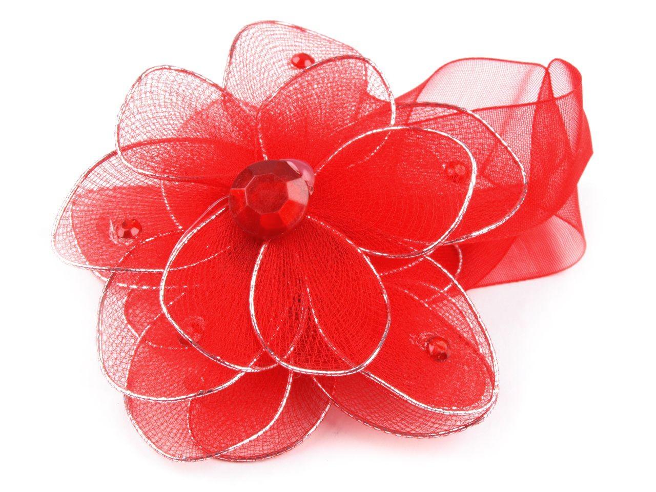 Ozdobná spona na závěsy s magnetem rozměr 8x33cm květina 12ks - 28 Kč / ks mix náhodný