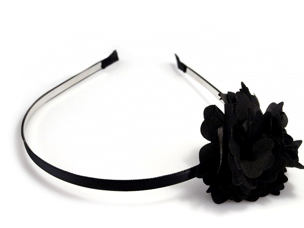 Čelenka kovová s květem Ø 50mm 36ks - 30 Kč / ks mix náhodný